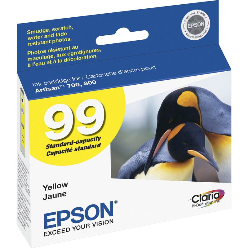 Epson Claria No. 99 Standard Capacity Yellow Ink Cartridge