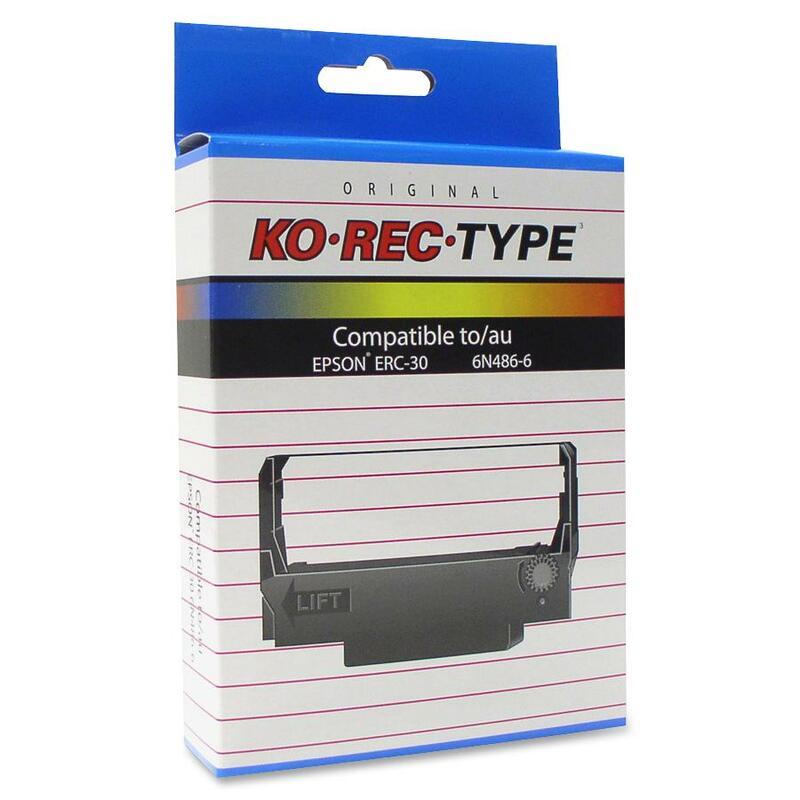 Ko-Rec-Type Black/Red Ribbon Cartridge