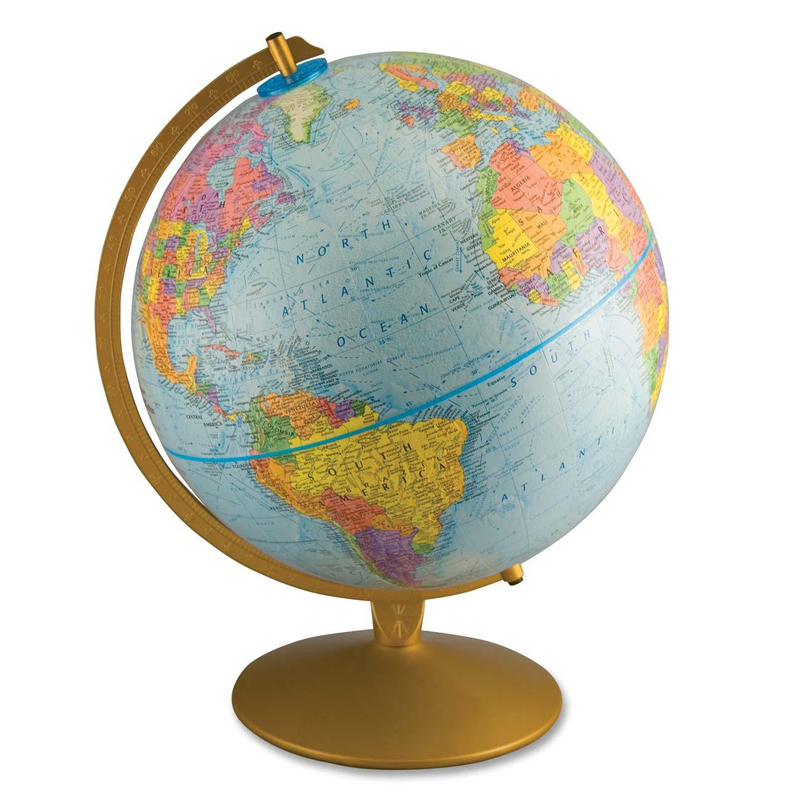 Advantus World Globe with Blue Oceans