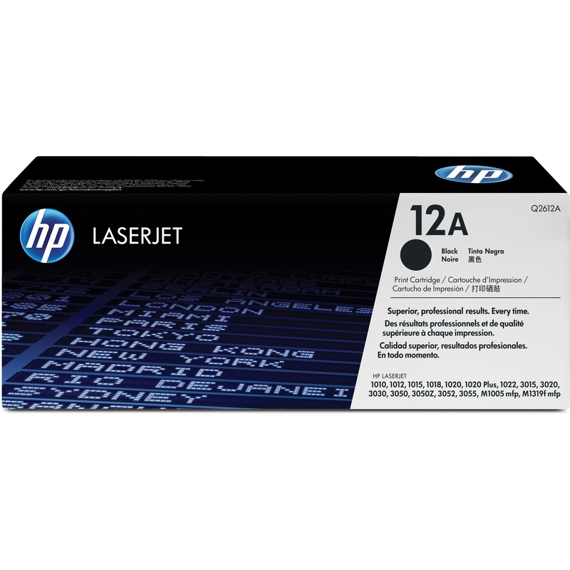 HP 12A (Q2612A) Black Original LaserJet Toner Cartridge