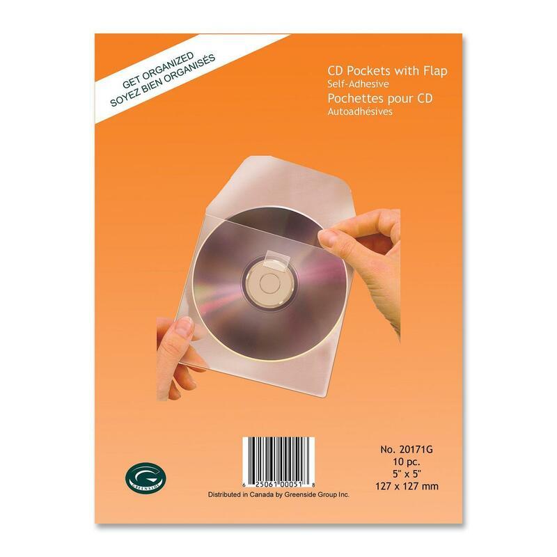 Greenside Self-Adhesive CD Pocket with Flap