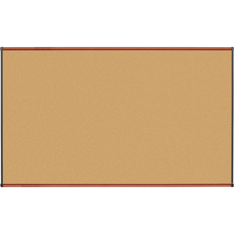 Lorell Cherry Finish Natural Cork Board