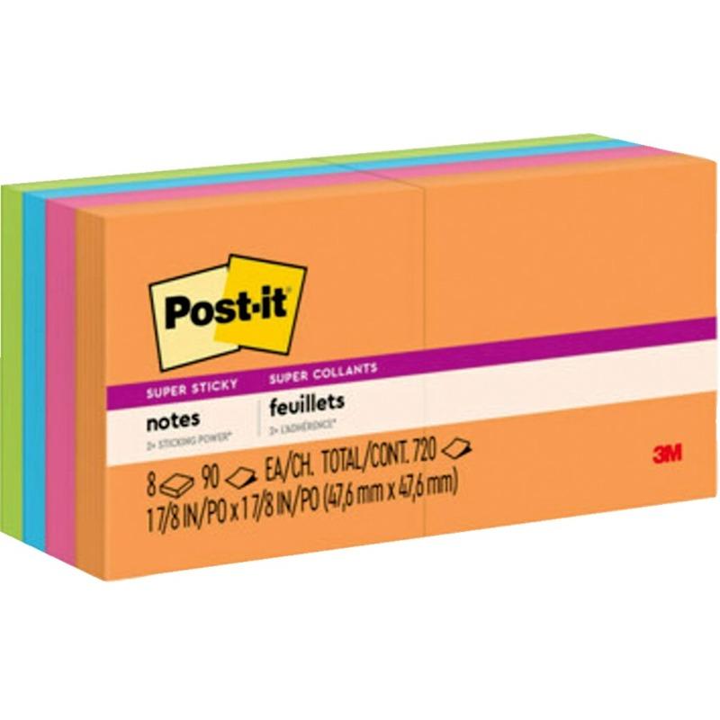 Post-it Super Sticky 2x2 Jewel Pop Coll. Pads