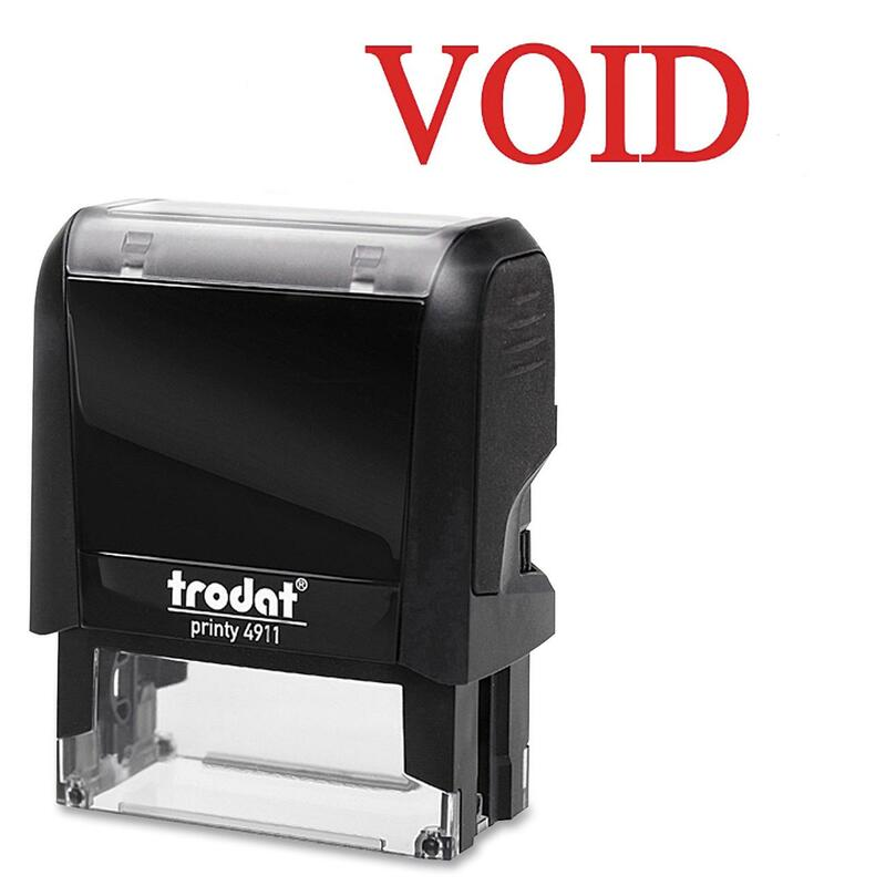 Trodat Printy Red Void Self-Inking Stamps