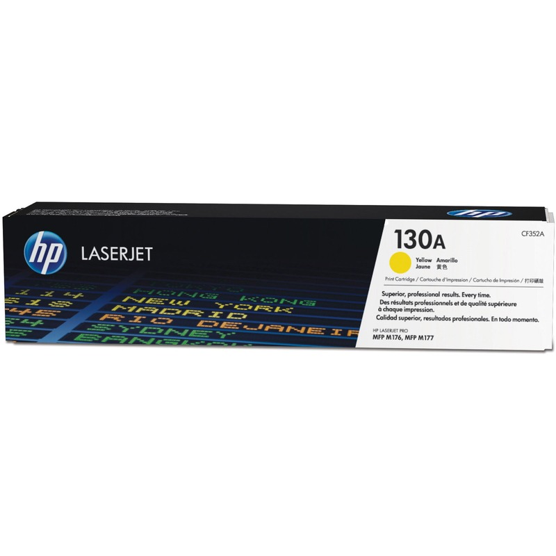 HP 130A (CF352A) Yellow Original LaserJet Toner Cartridge