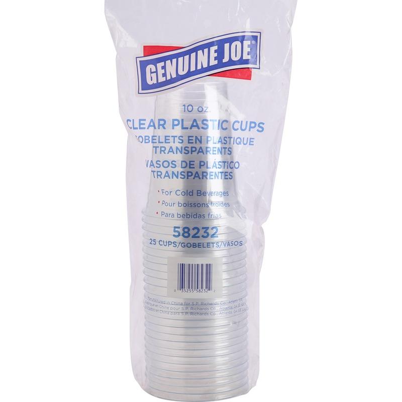 Genuine Joe Clear Plastic Cups