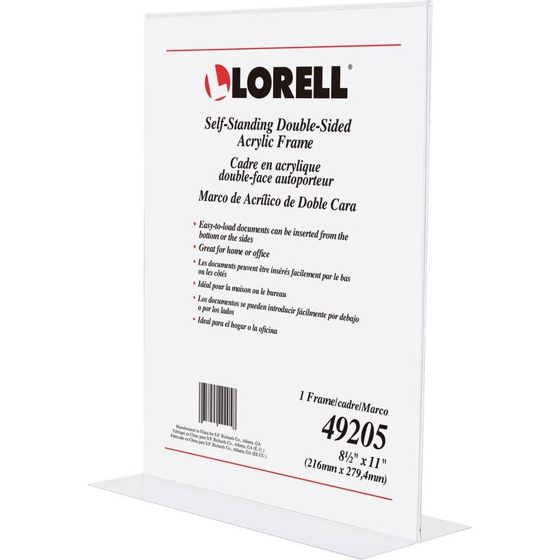 Lorell Double-sided Acrylic Frame
