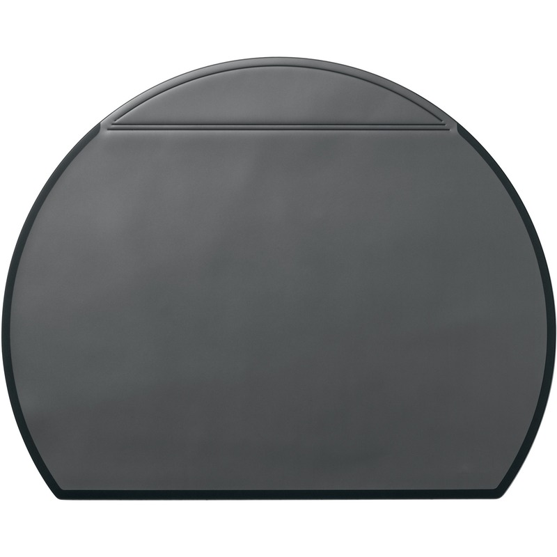 Durable Semi Circle Desk Mat with Overlay