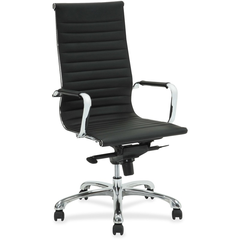 Lorell Modern Chair Series High-back Leather Chair