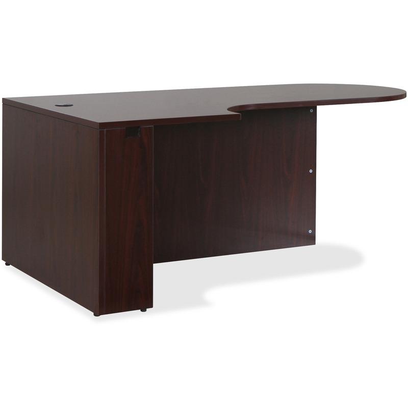 Lorell Essentials Series Mahogany Laminate Desking