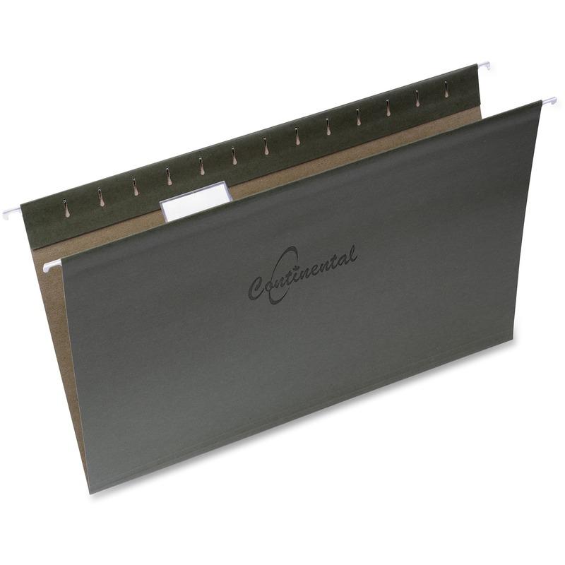 Continental 1/5-cut Tabs Legal Sz Hanging Folders
