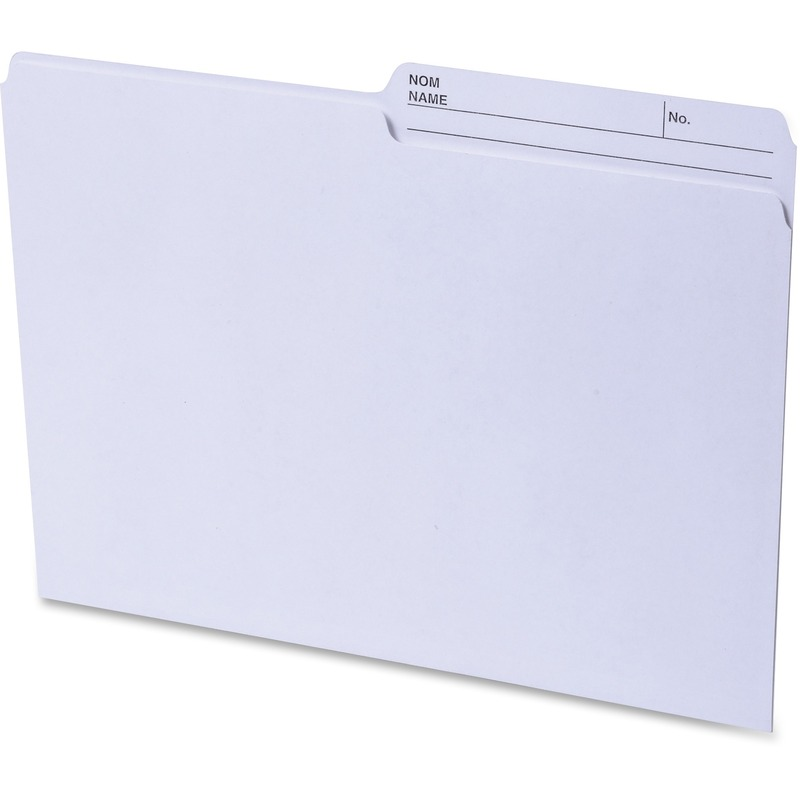 Continental 2-sided Tab Letter File Folders