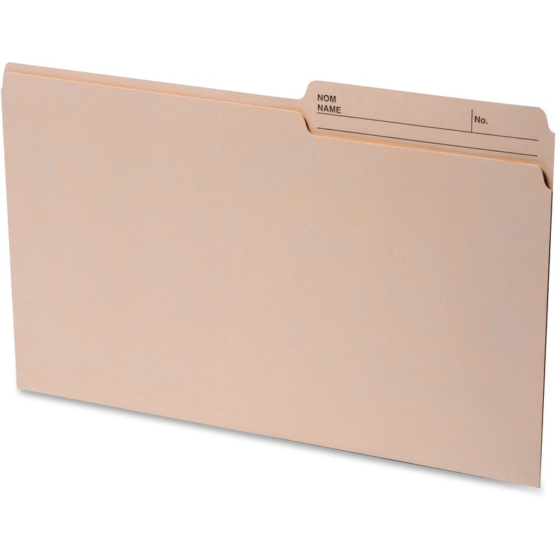 Continental 2-sided Tab Legal File Folders