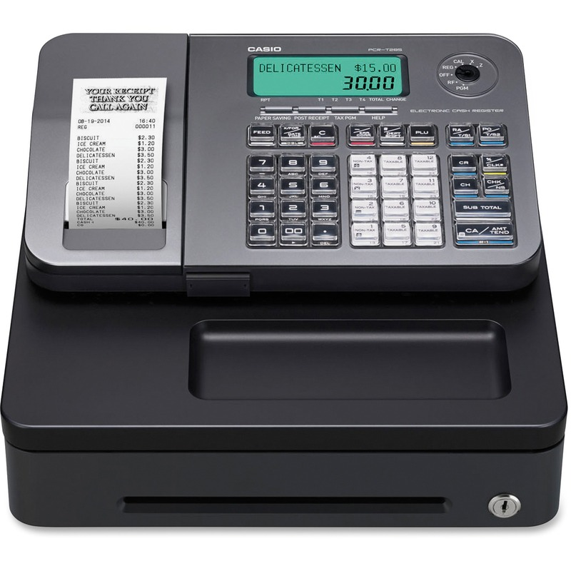 Casio PCRT285L Electronic Cash Register