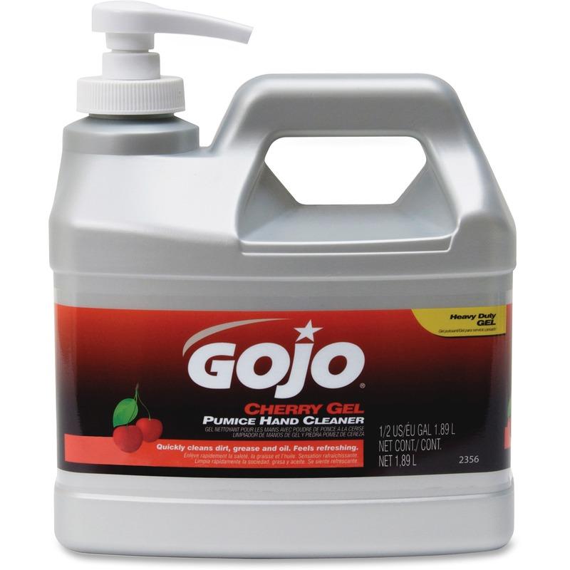 Unisource Half Gallon Cherry Gel Pumice Hand Cleaner
