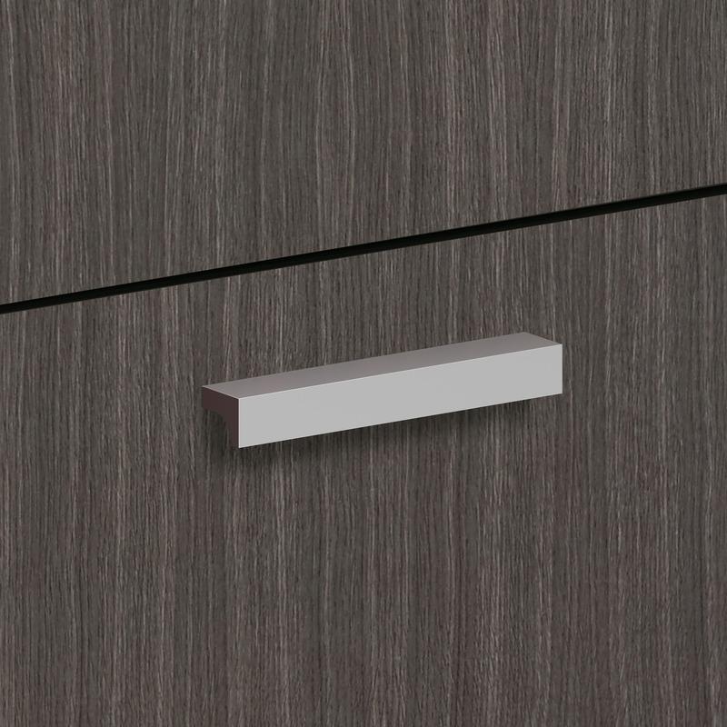 Basyx by HON BL Series Laminate Desk Black Classic Pull