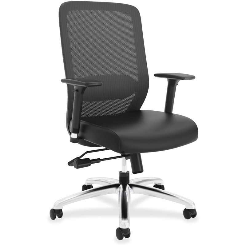 Basyx by HON Leather Seat Mesh High-back Chair