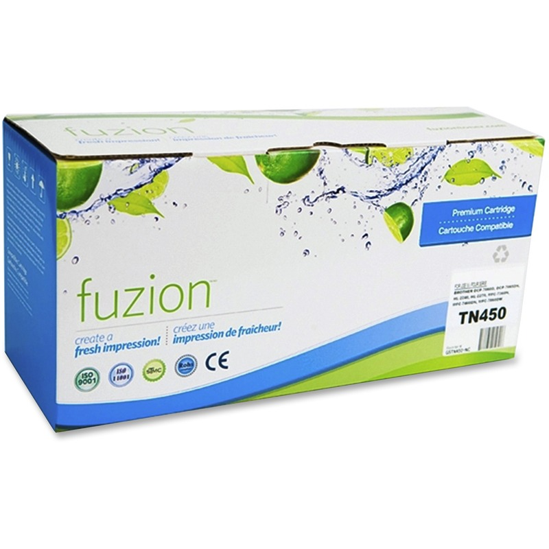 Fuzion Toner Cartridge - Alternative for Brother (TN450) - Black