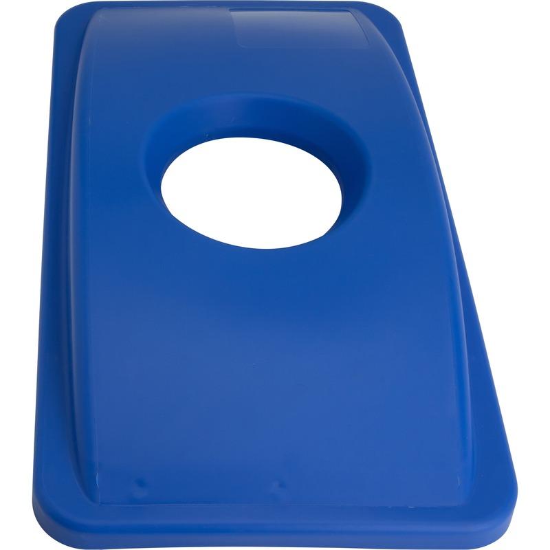 Genuine Joe 23-Gal Recycling Bin Round Cutout Lid