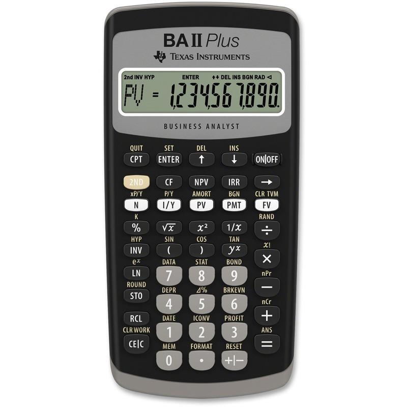 Texas Instruments BA-II Plus Adv. Financial Calculator