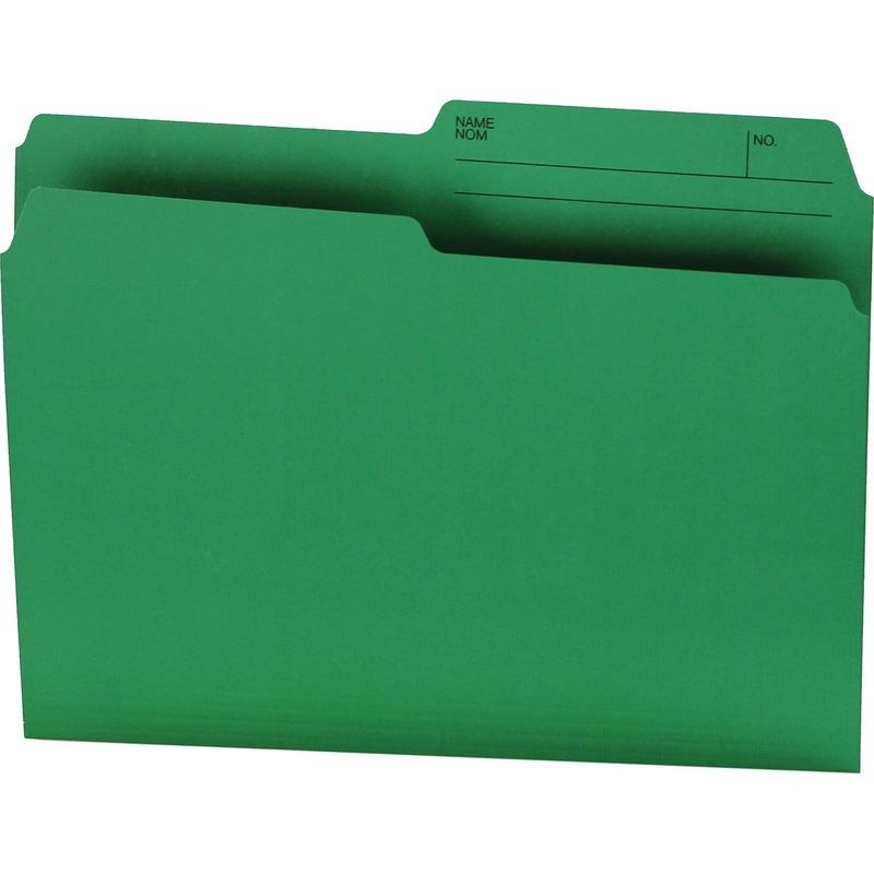 Offix 1/2 Tab Cut Letter Top Tab File Folder in Green - 100 / Box