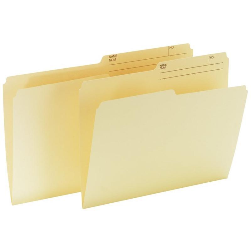 Offix 1/2 Tab Cut Letter Top Tab File Folder