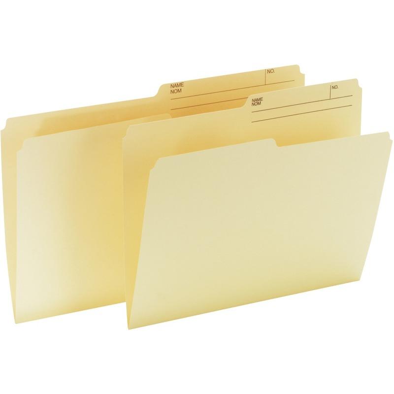Offix 1/2 Tab Cut Legal Top Tab File Folder