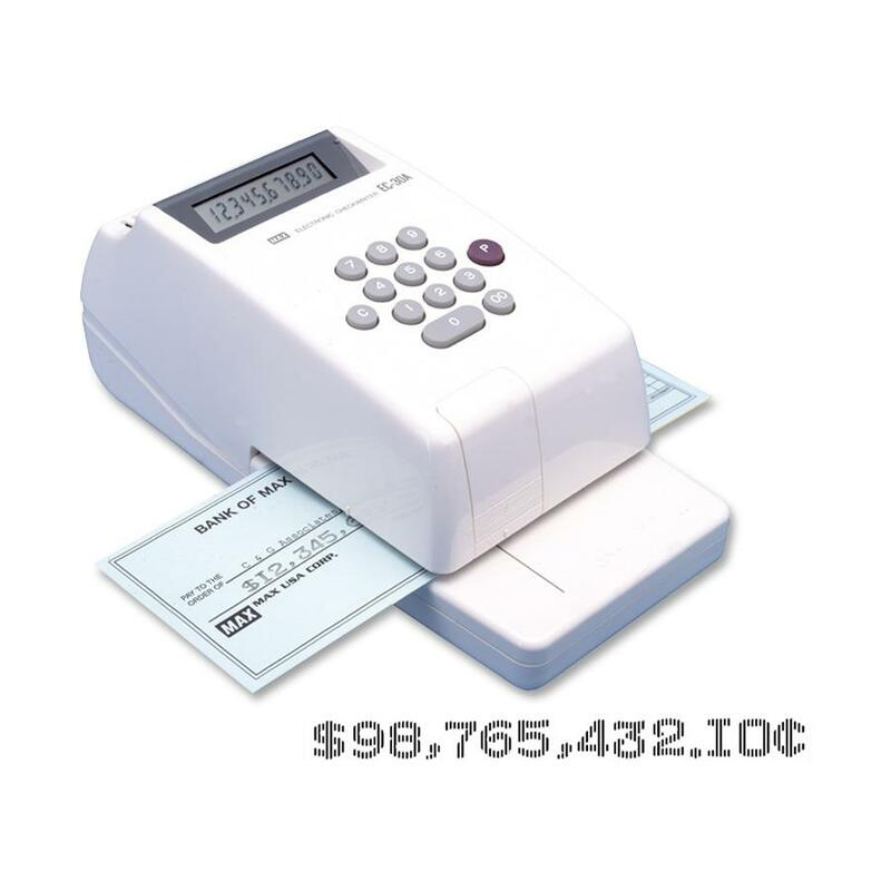 MAX Electronic Checkwriter
