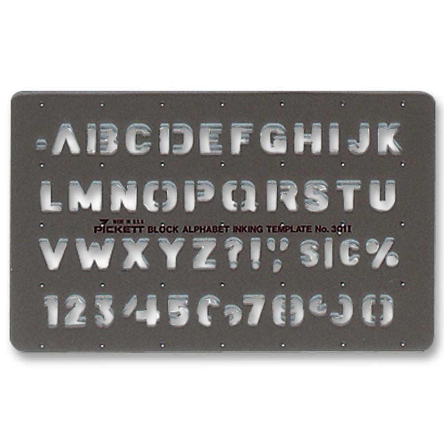 chartpak block alphabet lettering template
