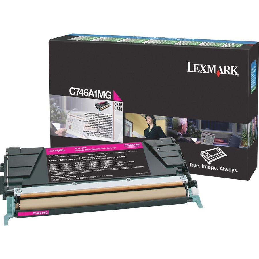 lexmark c746 c748 magenta return program toner cartridge magenta laser 7000 page. Black Bedroom Furniture Sets. Home Design Ideas