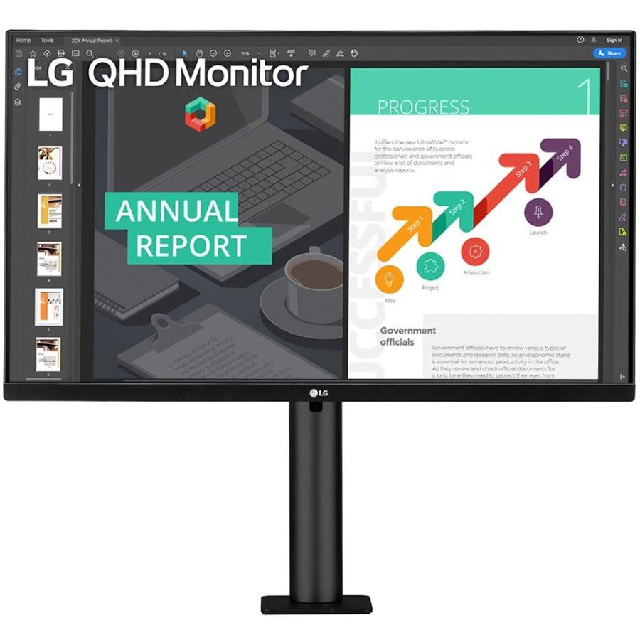 "LG 27BN88Q-B 27"" WQHD LCD Monitor - 16:9 - Textured Black_subImage_1"