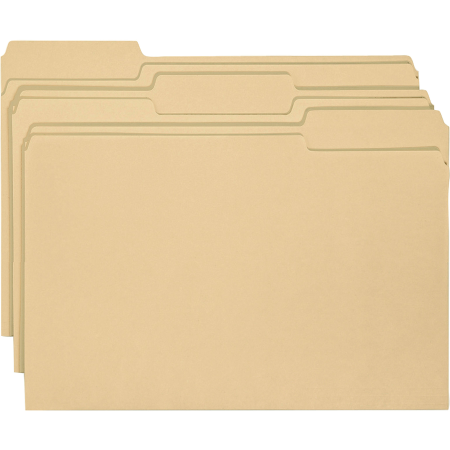 Smead File Folder with Antimicrobial Product Protection, 1/3-Cut Tab, Letter Size, Manila, 100 per Box (10338)