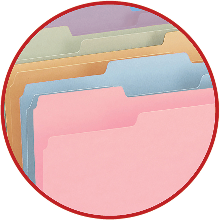 Smead File Folder, 1/3-Cut Tab, Letter Size, Assorted Colors, 100 per Box, (11953)