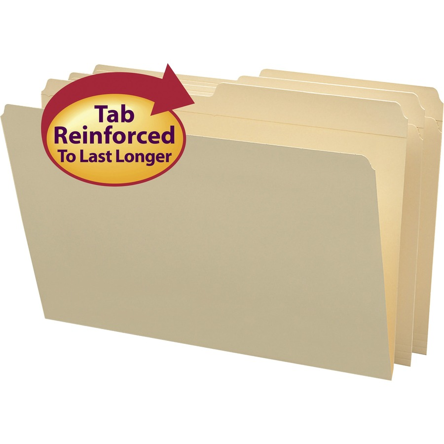 Smead File Folder, Reinforced 1/2-Cut Tab, Legal Size, Manila, 100 Per Box (15326)