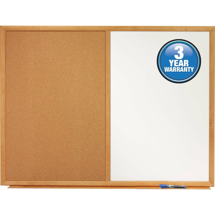 Quartet Standard Combination Whiteboard/Cork Bulletin Board