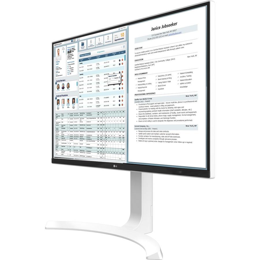 "LG 27HJ712C-W 27"" 4K UHD LED LCD Monitor - 16:9 - TAA Compliant_subImage_4"