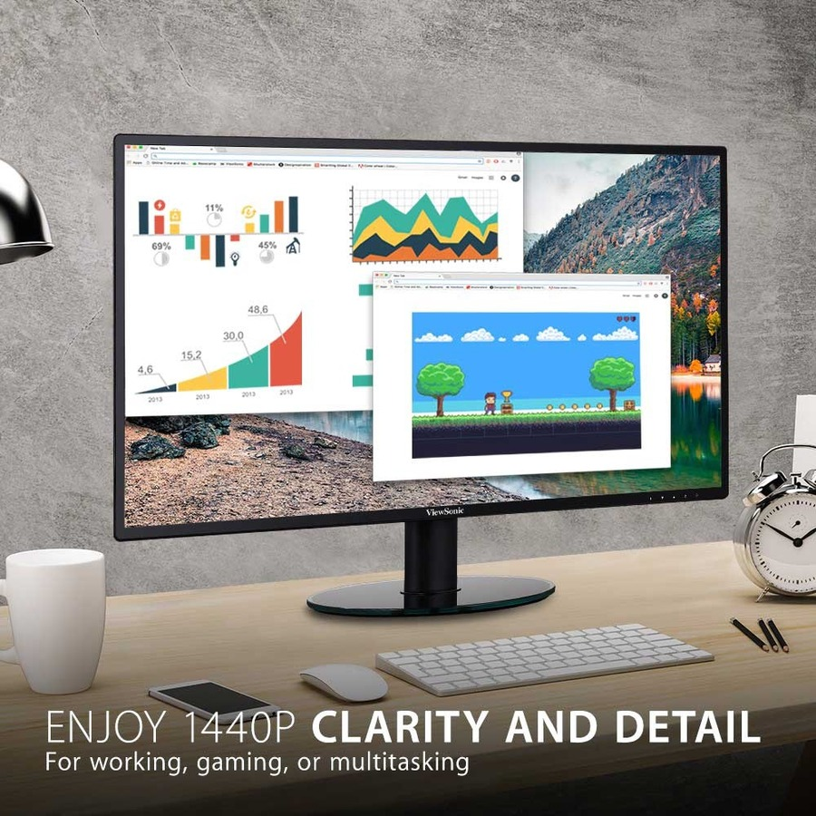 "Viewsonic VA2719-2K-SMHD 27"" WQHD WLED LCD Monitor - 16:9 - Black_subImage_6"