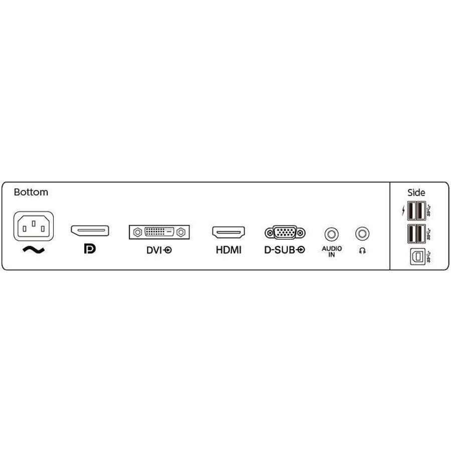 "Philips B-Line 252B9 25"" WUXGA WLED LCD Monitor - 16:10 - Textured Black_subImage_6"