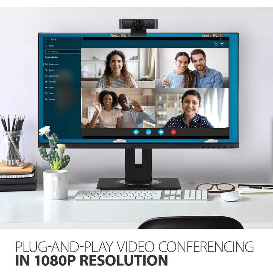 Viewsonic Webcam - 2.1 Megapixel - 30 fps - Black - USB 2.0_subImage_7
