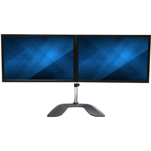 StarTech.com Dual Monitor Stand - Ergonomic Desktop Monitor Stand for up to 32 inch VESA Displays - Free-Standing Adjustable Mount -Silver_subImage_6