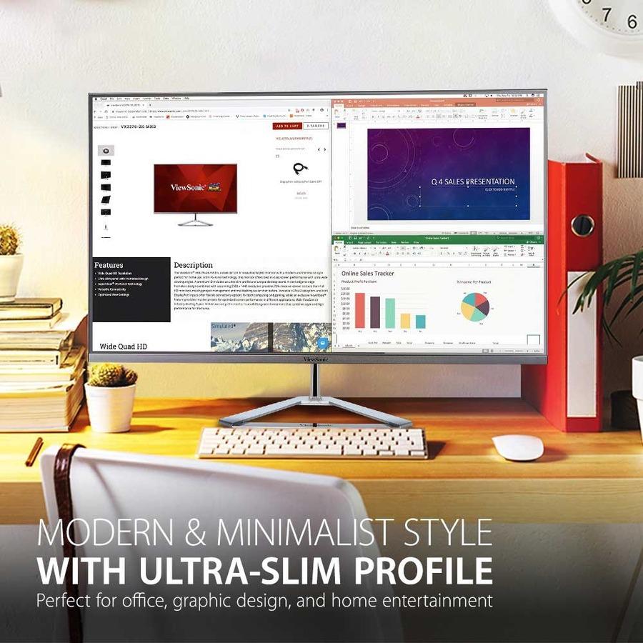 "Viewsonic VX3276-4K-MHD 31.5"" 4K UHD WLED LCD Monitor - 16:9 - Silver_subImage_7"