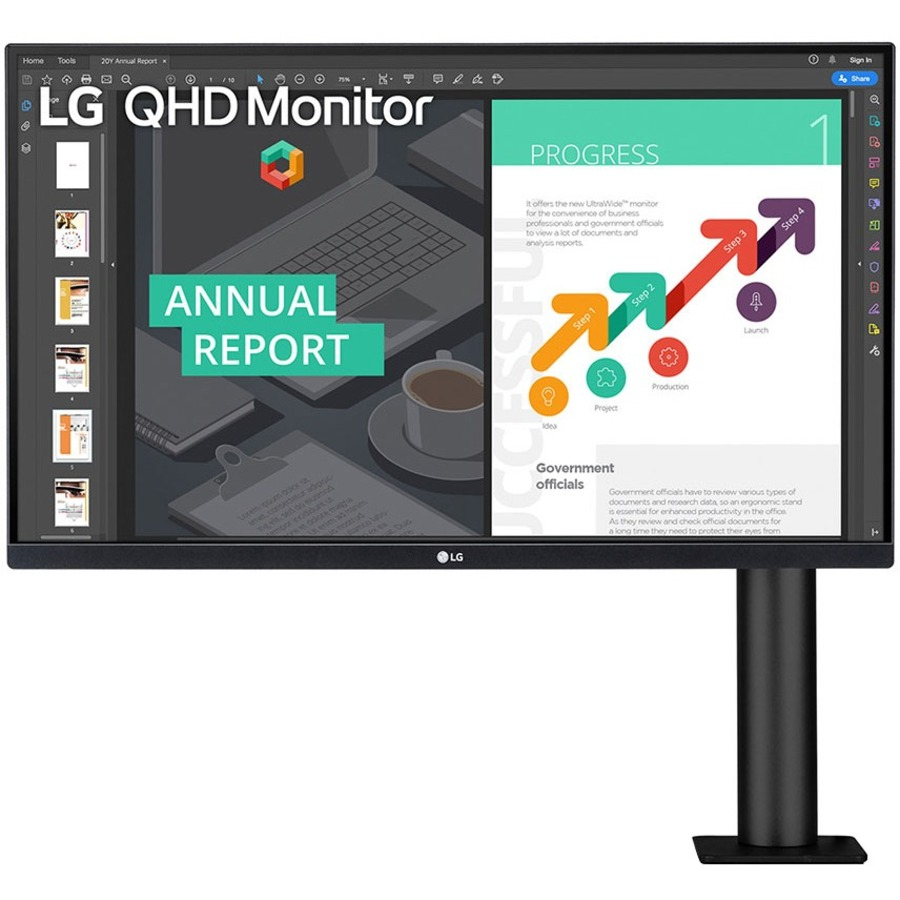 "LG 27BN88Q-B 27"" WQHD LCD Monitor - 16:9 - Textured Black_subImage_7"