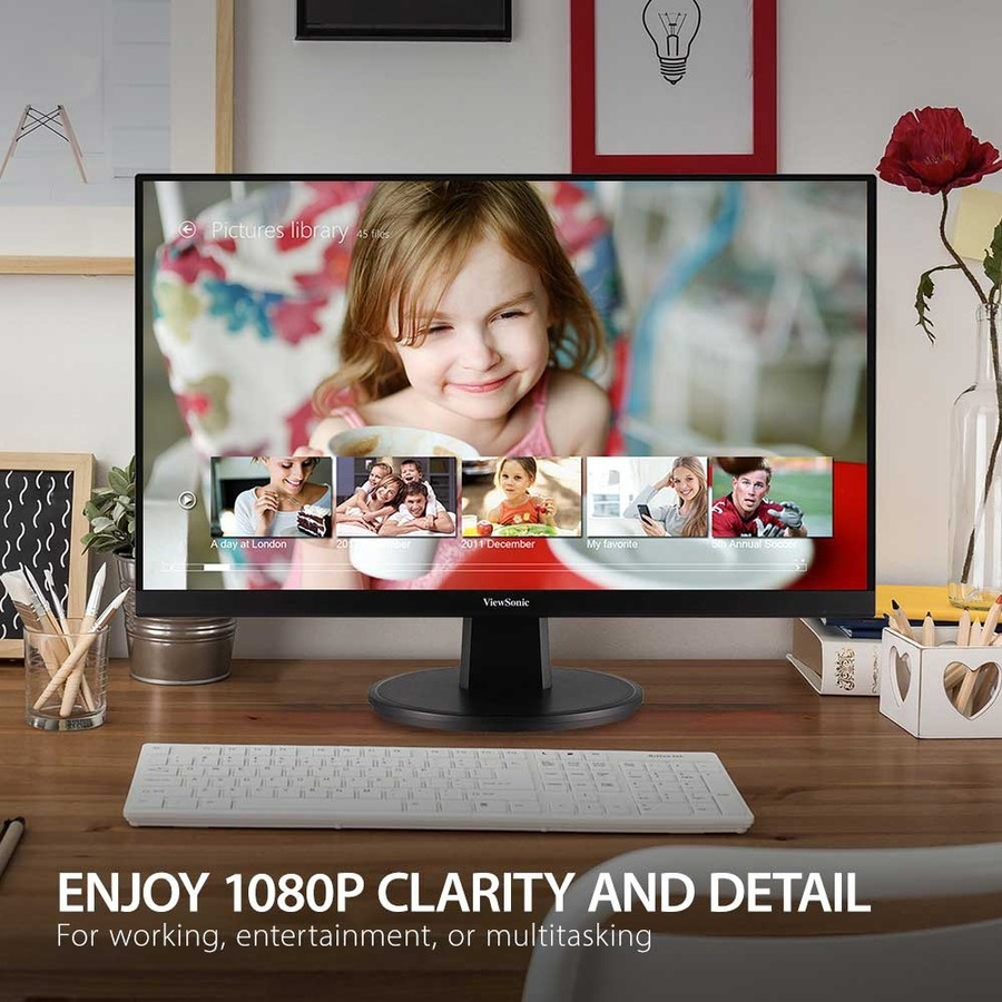 "Viewsonic VA2447-MH 23.8"" Full HD LED LCD Monitor - 16:9 - Black_subImage_7"