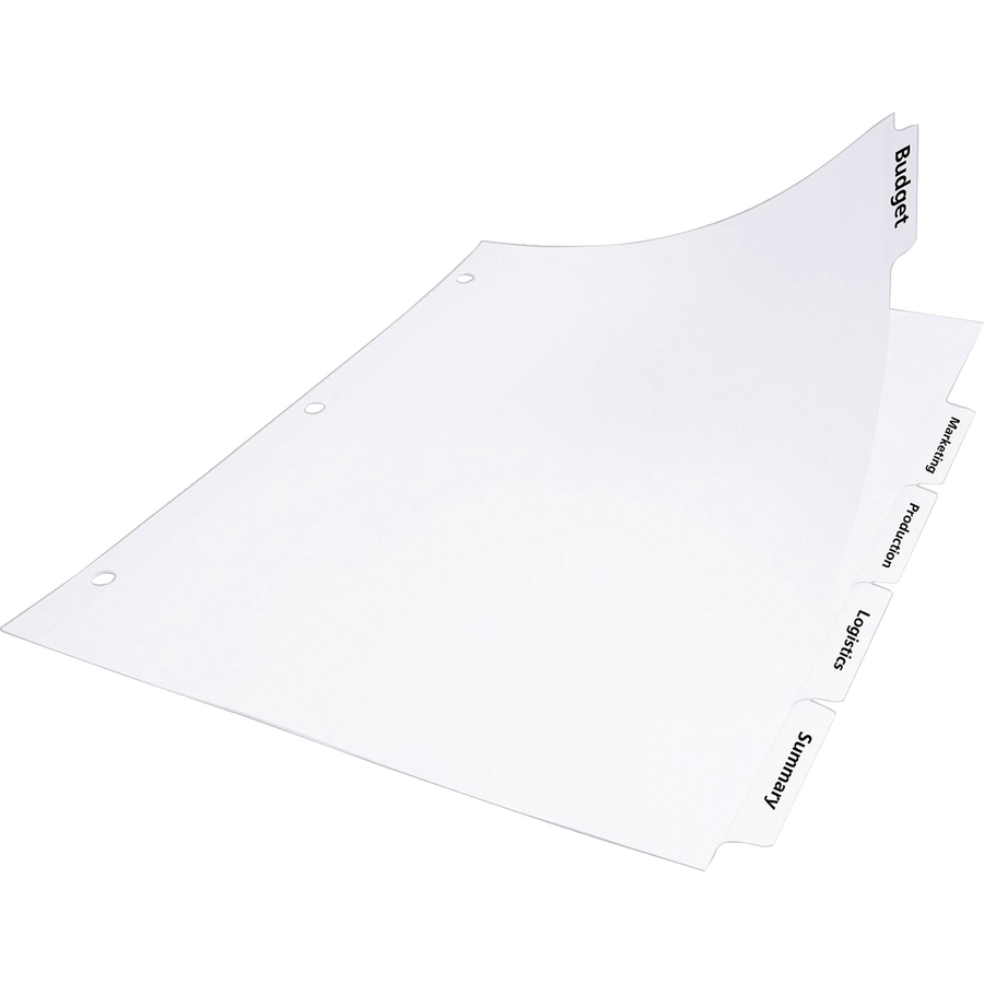avery index maker clear label dividers with easy apply label strip white tabs
