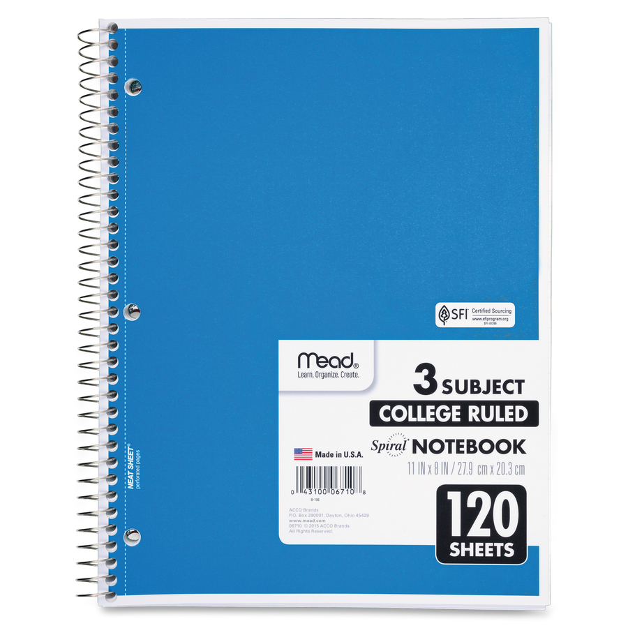 Phlebotomy sparco 180 sheets 5 subjects college ruled