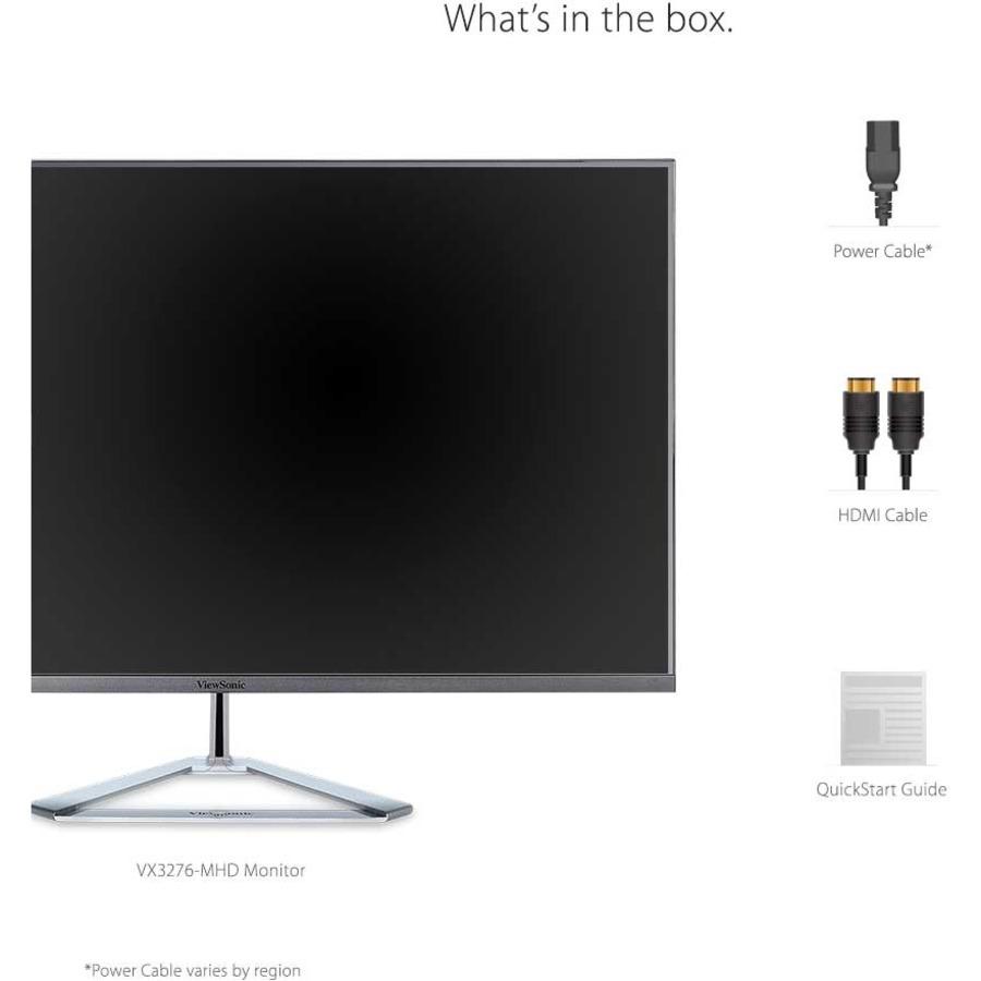 "Viewsonic VX3276-mhd 31.5"" Full HD LED LCD Monitor - 16:9 - Metallic Silver_subImage_16"