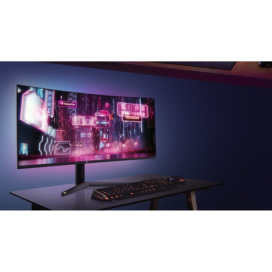 "LG UltraGear 38GN95B-B 37.5"" UW-QHD+ Curved Screen LED Gaming LCD Monitor - 21:9 - Black, White_subImage_15"