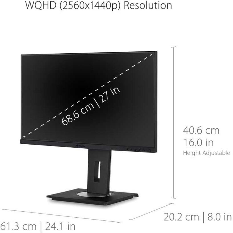 "Viewsonic VG2756-2K 27"" WQHD LED LCD Monitor - 16:9 - Black_subImage_17"