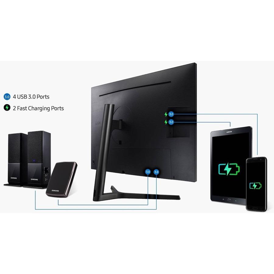 "Samsung U32H850UMN 31.5"" 4K UHD Quantum Dot LED LCD Monitor - 16:9 - Black, Silver_subImage_18"
