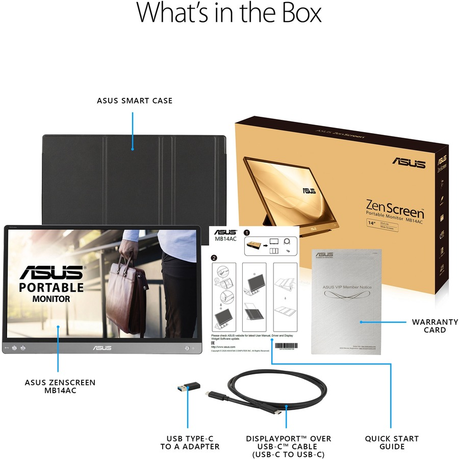 """Asus ZenScreen MB14AC 14"""" Full HD WLED LCD Monitor - 16:9 - Dark Gray_subImage_19"""